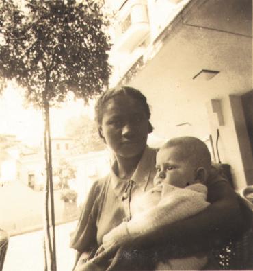 Jorge Mautner e sua babá filha-de-santo Lúcia