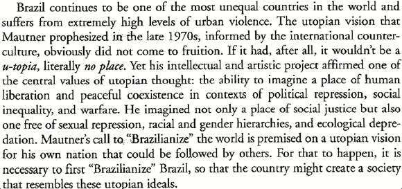 Jorge Mautner and Countercultural Utopia in Brazil