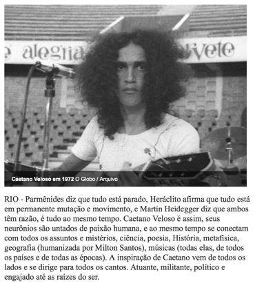 Jorge Mautner sobre Caetano: 'a inspiração vem de todos os lados'