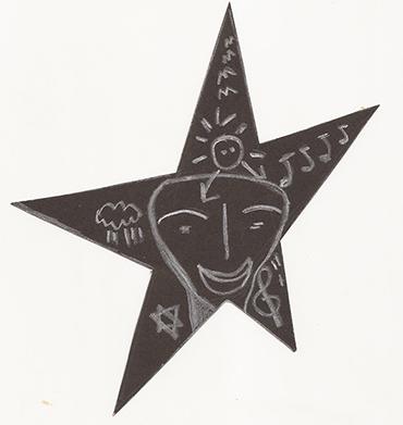 Desenho na cartolina