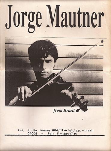 Jorge Mautner from Brazil