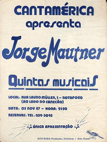 Cantamérica apresenta Jorge Mautner