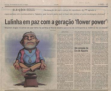 Lulinha em paz com a geração 'flower power'