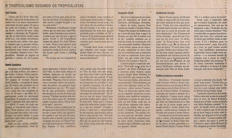 O tropicalismo segundo Caetano Veloso