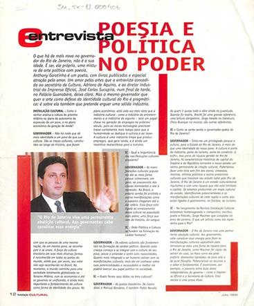 Poesia e política no poder