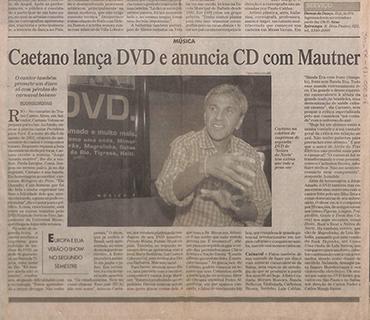 Caetano lança DVD e anuncia CD com Mautner
