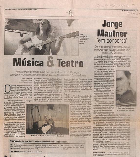 Jorge Mautner em concerto: Borbulhantes