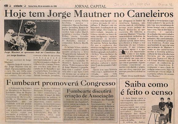 Hoje tem Jorge Mautner no Caneleiros