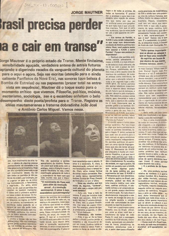 O Brasil precisa perder a vergonha e cair em transe