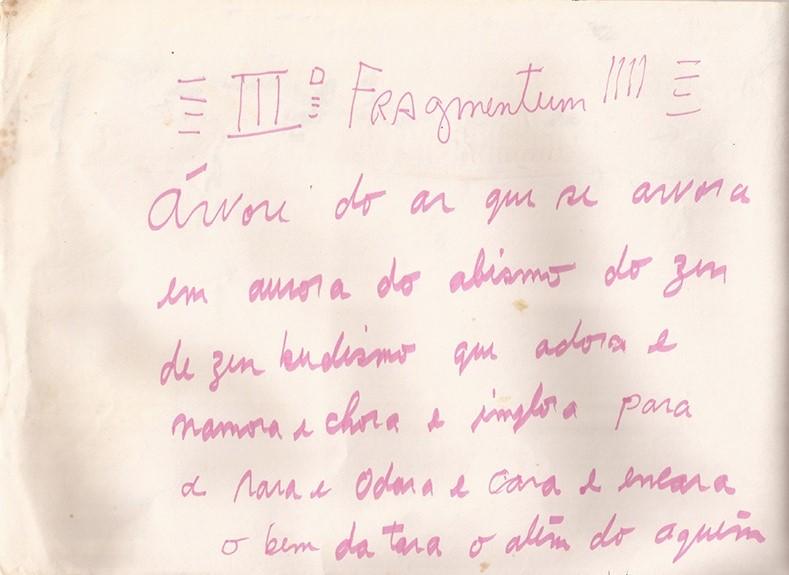 IIIº Fragmentum