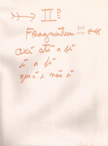 IIº Fragmentum