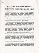 Cultura no governo Lula