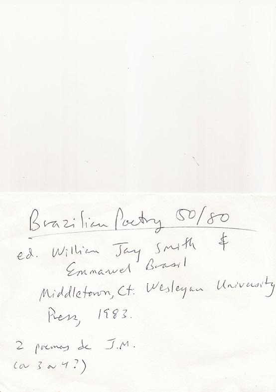Brazilian Poetry 50/50