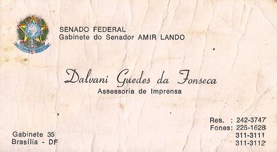 Cartão de apresentação de Dalvani