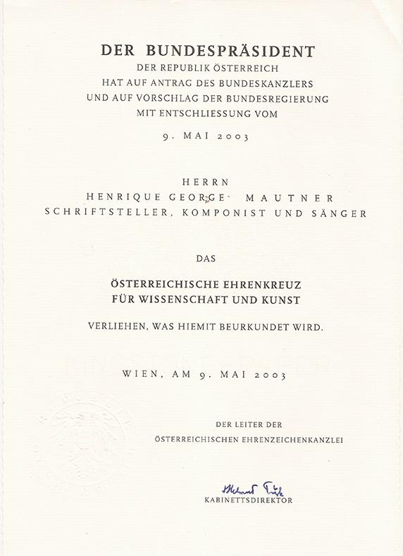 Ciência e Arte da República Austríaca