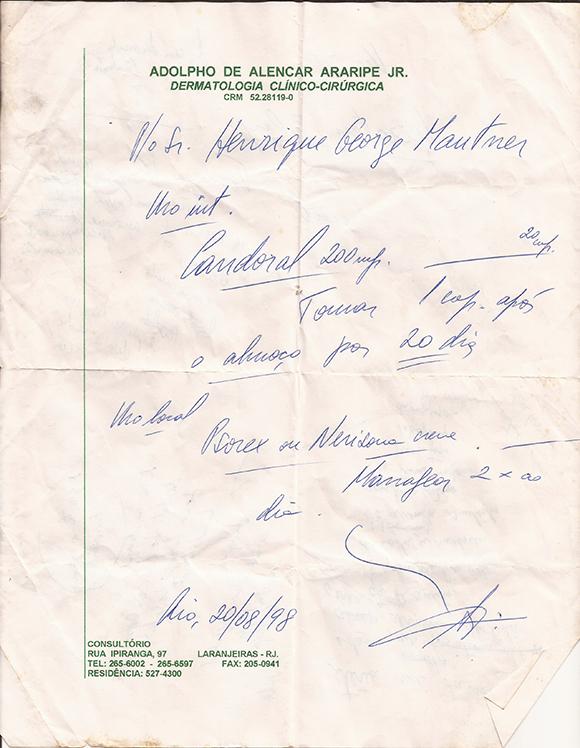 P/ Sr. Henrique George Mautner